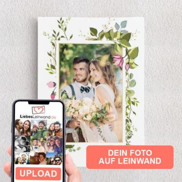 Personalisiertes Leinwandbild Hintergrund: Blumenranke