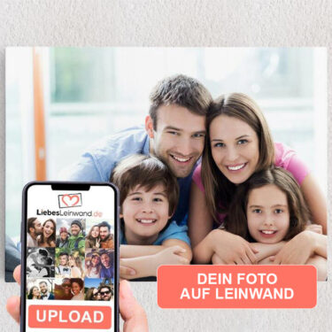 Personalisiertes Leinwandbild Dein Foto auf Leinwand