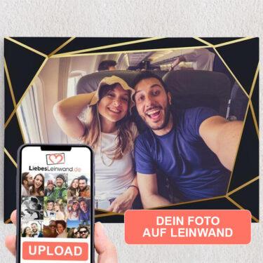 Personalisiertes Leinwandbild Hintergrund: Art Déco