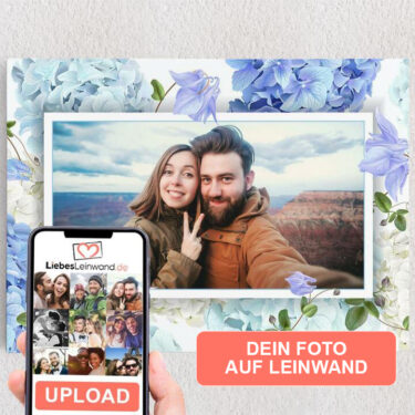 Personalisiertes Leinwandbild Hintergrund: Blütentraum