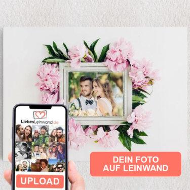 Personalisiertes Leinwandbild Hintergrund: Blumenschmuck