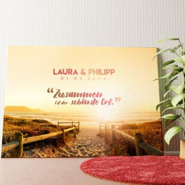 Personalisiertes Leinwandbild Personalisiertes Wandbild Beach