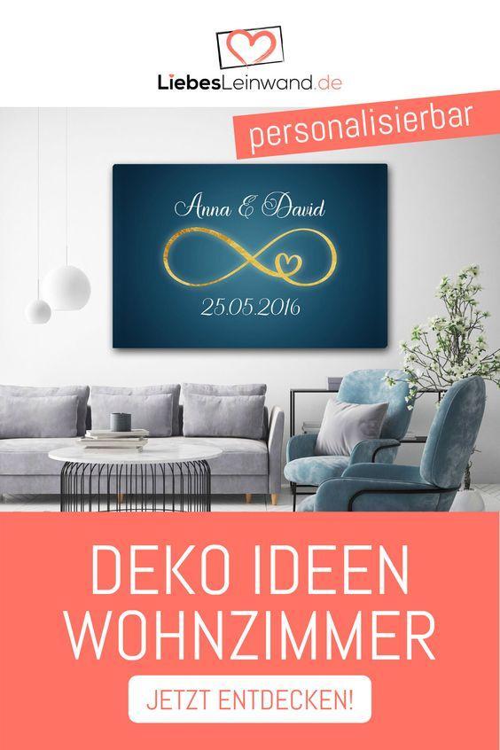 Deko Ideen Wohnzimmer United Leinwand Paar Hochzeit Blau
