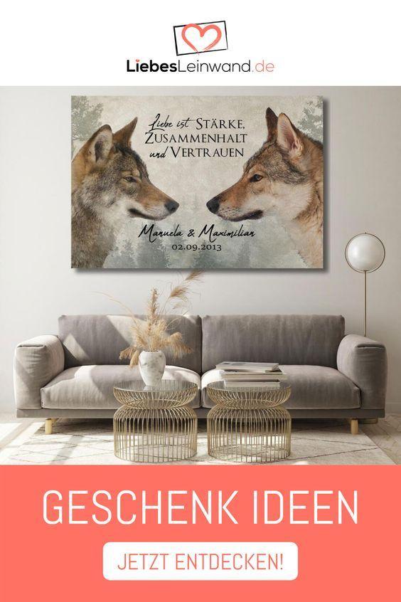 Dekoratives Geschenk Weihnachten Individuell Persönlich Wolf Love