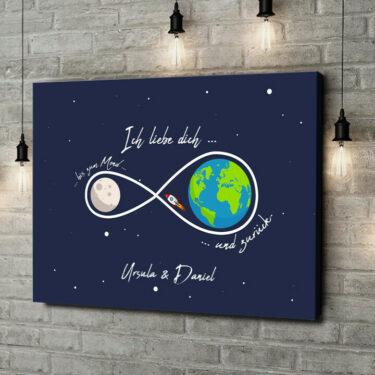 Personalisiertes Leinwandbild Leinwandbild personalisiert Infinity