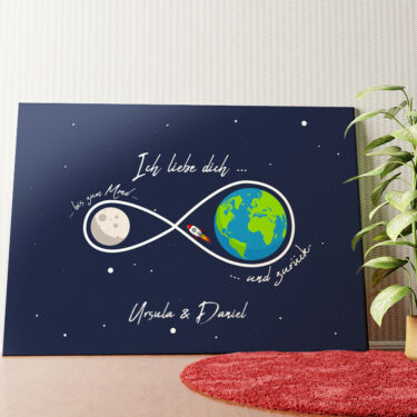 Personalisiertes Leinwandbild Personalisiertes Wandbild Infinity