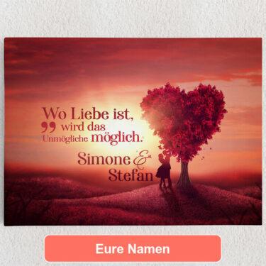 Personalisiertes Leinwandbild Personalisiertes Leinwandbild Love Tree