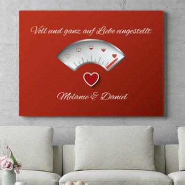 Personalisierbares Geschenk 100% Liebe