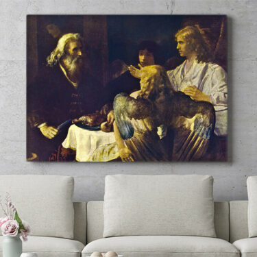 Personalisierbares Geschenk Abraham und die drei Engel