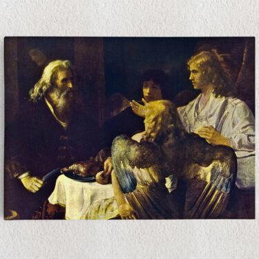 Personalisiertes Leinwandbild Abraham und die drei Engel