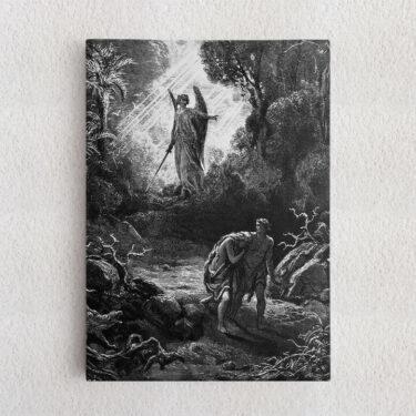 Personalisiertes Leinwandbild Adam und Eva im Paradies