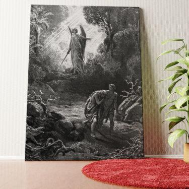Personalisiertes Wandbild Adam und Eva im Paradies