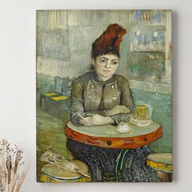 Leinwandbild personalisiert Agostina Segatori im Café Tambourin