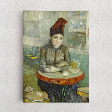 Personalisiertes Leinwandbild Agostina Segatori im Café Tambourin