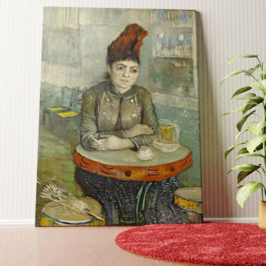 Personalisiertes Wandbild Agostina Segatori im Café Tambourin