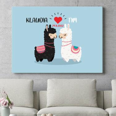 Personalisierbares Geschenk Alpaca-Liebe