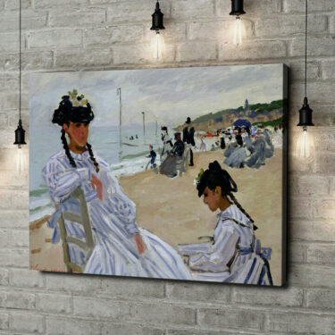 Leinwandbild personalisiert Am Strand in Trouville