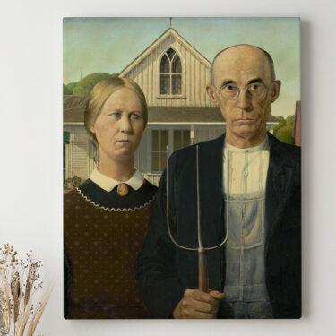 Leinwandbild personalisiert American Gothic