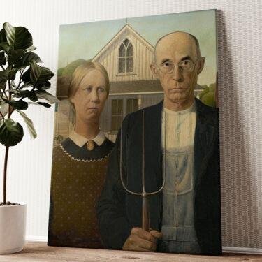 American Gothic Wandbild personalisiert