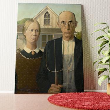 Personalisiertes Wandbild American Gothic