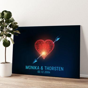 Amors Pfeil Wandbild personalisiert