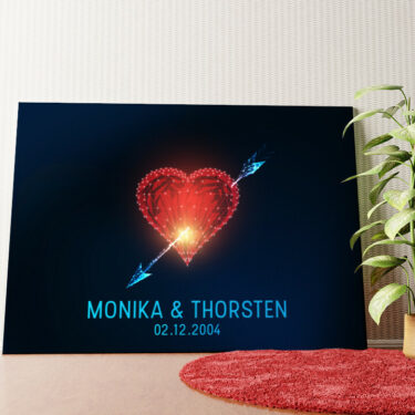 Personalisiertes Wandbild Amors Pfeil