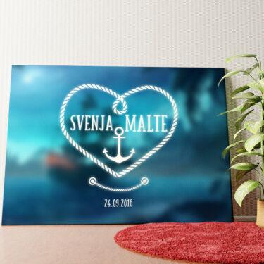 Personalisiertes Wandbild Anker der Liebe