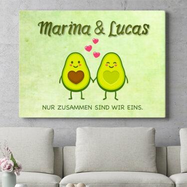 Personalisierbares Geschenk Avocado