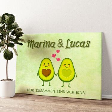 Avocado Wandbild personalisiert