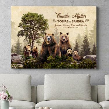 Personalisierbares Geschenk Bärenfamilie