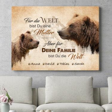 Personalisierbares Geschenk Bärenmutter