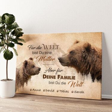 Bärenmutter Wandbild personalisiert