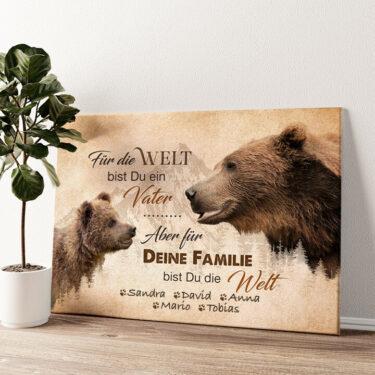 Bärenvater Wandbild personalisiert