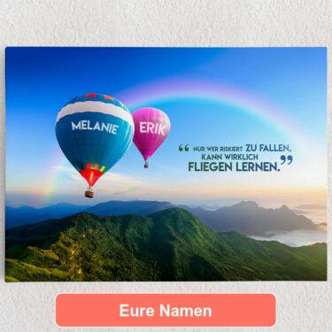 Personalisiertes Leinwandbild Balloons