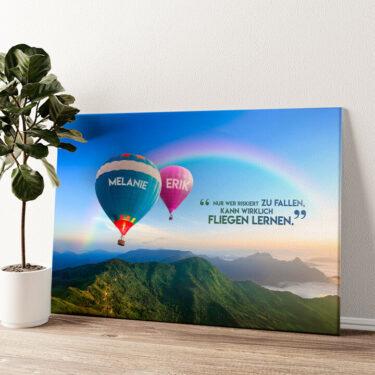 Balloons Wandbild personalisiert