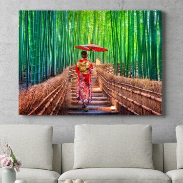 Personalisierbares Geschenk Bambuswald