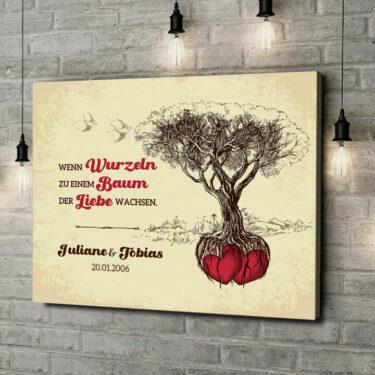 Leinwandbild personalisiert Baum der Liebe