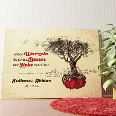 Personalisiertes Wandbild Baum der Liebe