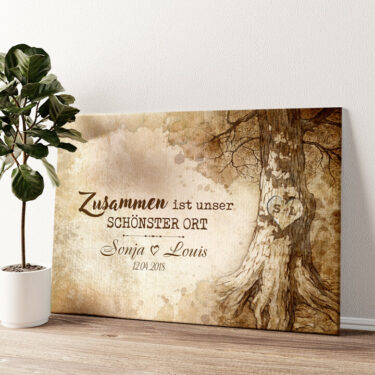 Baumherz Wandbild personalisiert