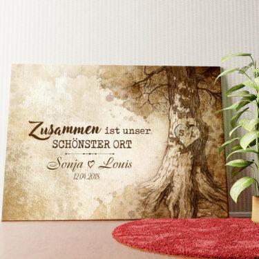Personalisiertes Wandbild Baumherz
