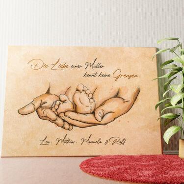 Personalisiertes Wandbild Beschützende Liebe