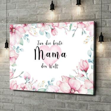 Leinwandbild personalisiert Beste Mama