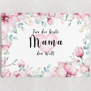 Personalisiertes Leinwandbild Beste Mama