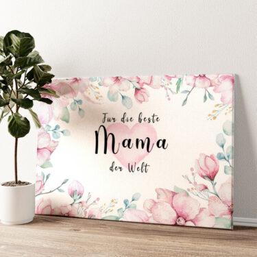 Beste Mama Wandbild personalisiert