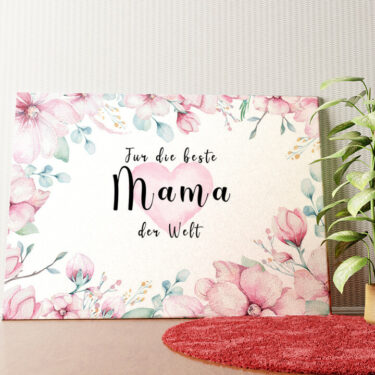 Personalisiertes Wandbild Beste Mama