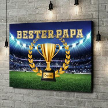 Leinwandbild personalisiert Bester Papa