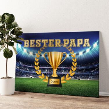 Bester Papa Wandbild personalisiert