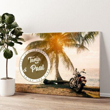 Biker Love Wandbild personalisiert