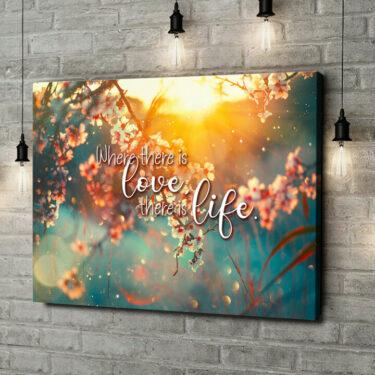 Leinwandbild personalisiert Blühende Liebe