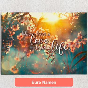Personalisiertes Leinwandbild Blühende Liebe